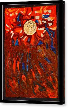 Space Abstraction-1 Canvas Print by Anand Swaroop Manchiraju