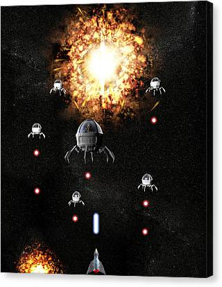 Space War Canvas Print by Christian Darkin