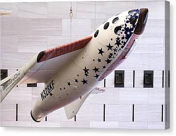 Spaceshipone In Museum Canvas Print by Mark Williamson