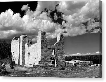 Spanish Mission Ruins Of Quarai Nm Canvas Print by Christine Till