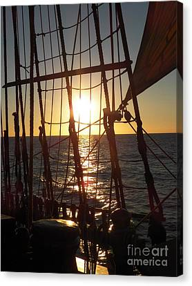 Sparkle In The Rigging Canvas Print by L Jaye  Bell