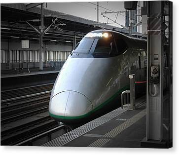 Speed Train Canvas Print by Naxart Studio