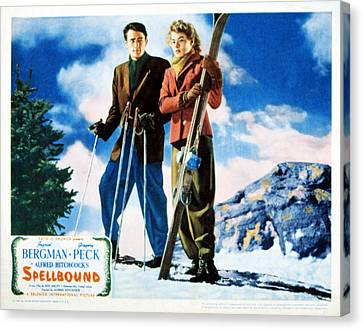 Spellbound, Gregory Peck, Ingrid Canvas Print by Everett
