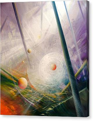 Sphere New Lights Canvas Print by Drazen Pavlovic