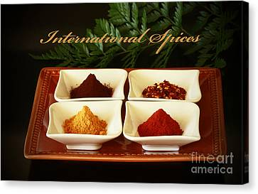Spices From Around The World Canvas Print by Inspired Nature Photography Fine Art Photography