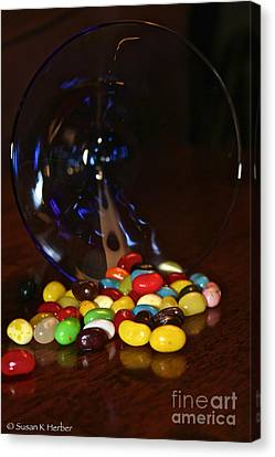Spilled Beans Canvas Print by Susan Herber