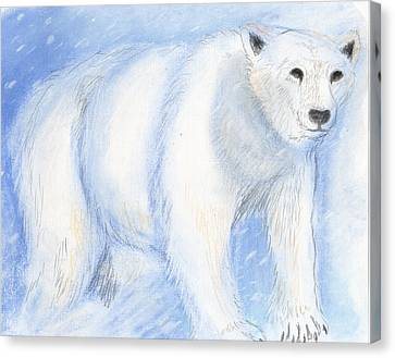 Spirit Bear Canvas Print by Janelle Schneider