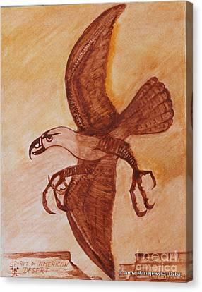 Spirit Of American Desert Canvas Print by Anna Folkartanna Maciejewska-Dyba