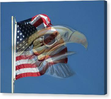 Spirit Of The Screaming Eagles Canvas Print by Kevin Caudill