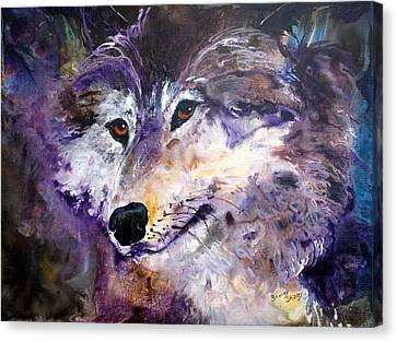 Spirit Wolf Canvas Print by Sherry Shipley