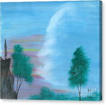 Split Sky Canvas Print by Robert Meszaros
