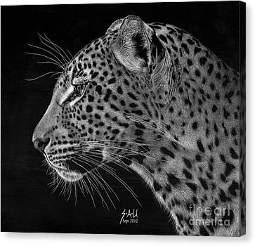 Spotted Solitude Canvas Print by Sheryl Unwin