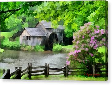 Spring At Mabry Mill Canvas Print by Lynne Jenkins