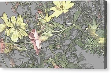 Spring Blossoms In Abstract Canvas Print by Kim Galluzzo Wozniak