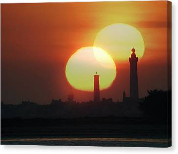 Spring Equinox Sunset, Composite Image Canvas Print by Laurent Laveder