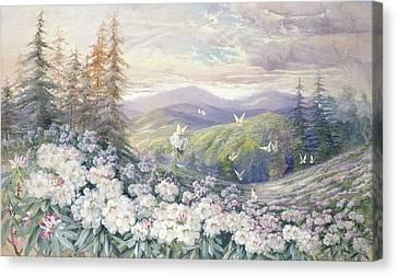 Spring Landscape Canvas Print by Marian Ellis Rowan