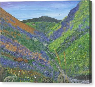 Spring Time In The Mountains Canvas Print by Lori  Theim-Busch