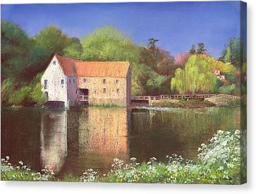 Springtime At The Mill Canvas Print by Anthony Rule