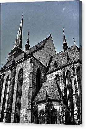 St. Bartholomew Cathedral - Pilsen Canvas Print by Juergen Weiss
