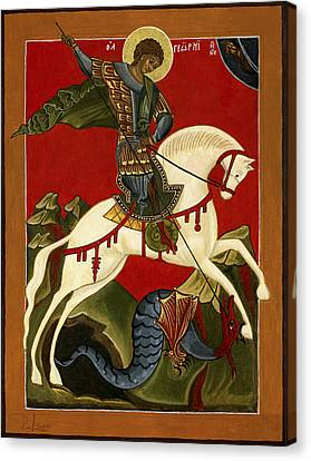 St George And The Dragon Canvas Print by Raffaella Lunelli