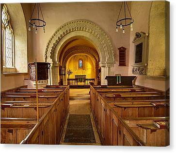 St John The Evangelist Elkstone Gloucestershire Canvas Print by Nick Temple-Fry