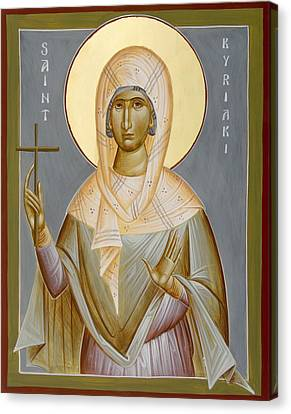 St Kyriaki Canvas Print by Julia Bridget Hayes