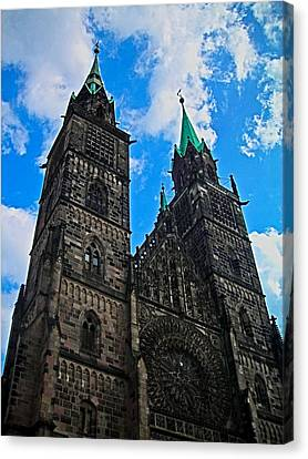 St. Lorenz Church - Nuremberg Canvas Print by Juergen Weiss