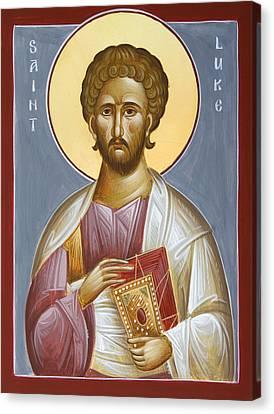 St Luke The Evangelist Canvas Print by Julia Bridget Hayes