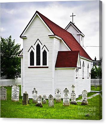 St. Luke's Church And Cemetery In Placentia Canvas Print by Elena Elisseeva