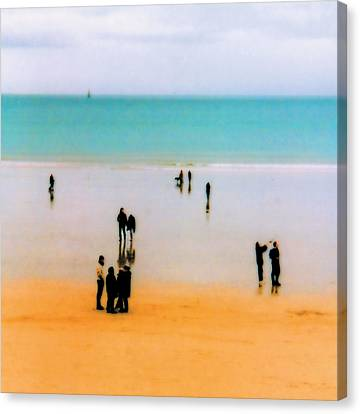 St Malo Beach Canvas Print by Nigel Chaloner