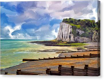 St. Margaret's Bay At Dover Canvas Print by Dominic Piperata