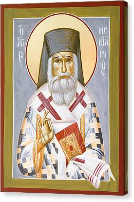 St Nektarios Canvas Print by Julia Bridget Hayes