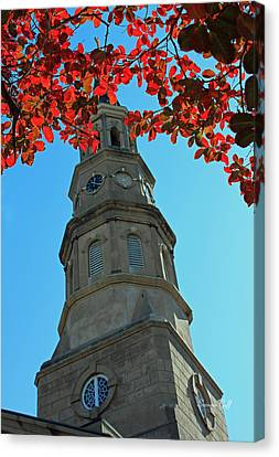 St Philips Church In Autumn - Charleston Sc Canvas Print by Suzanne Gaff
