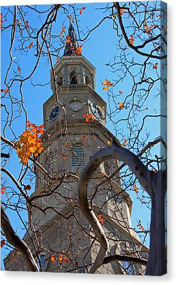 St. Philips Church Steeple - Charleston Sc Canvas Print by Suzanne Gaff