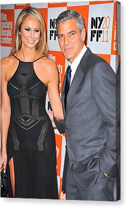 Stacy Keibler, George Clooney Canvas Print by Everett