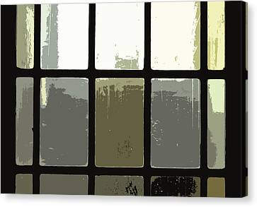 Stained Glass Doors 2 Canvas Print by Peter  McIntosh