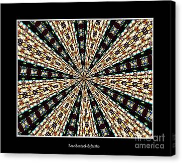 Stained Glass Kaleidoscope 39 Canvas Print by Rose Santuci-Sofranko