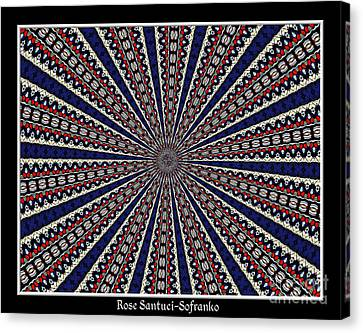 Stained Glass Kaleidoscope 49 Canvas Print by Rose Santuci-Sofranko