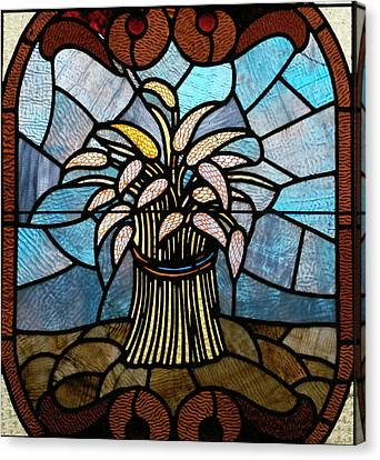 Stained Glass Lc 11 Canvas Print by Thomas Woolworth