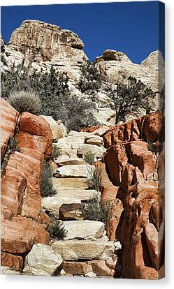 Staircase Stones Canvas Print by Kelley King