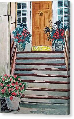 Stairs Sketchbook Project Down My Street Canvas Print by Irina Sztukowski