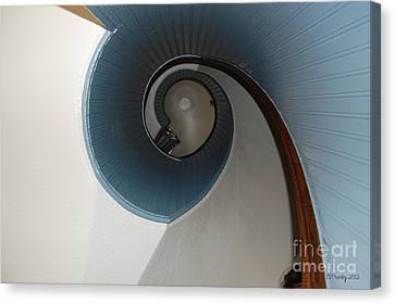Stairway To The Past Canvas Print by Susan Stevens Crosby