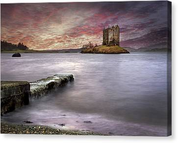 Stalker Castle At Sunset Canvas Print by Trevor Sollars