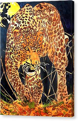Stalking Leopard Canvas Print by Mike Holder