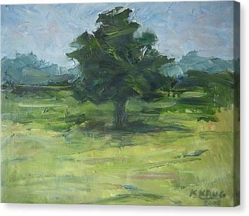 Standing Tree Canvas Print by Ken Krug