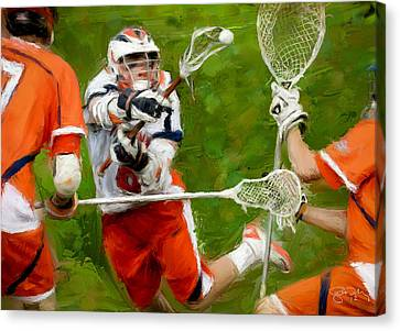 Stanwick Lacrosse 2 Canvas Print by Scott Melby