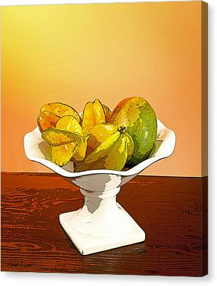 Star Fruit And Mango Canvas Print by Michelle Wiarda