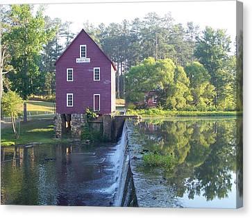 Starr's Mill Georgia Summer Morn Canvas Print by Jake Hartz