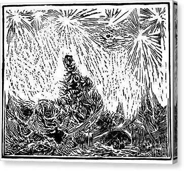 Starry Night Canvas Print by Dariusz Gudowicz