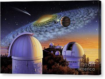 Starry Nights At Lick Canvas Print by Lynette Cook
